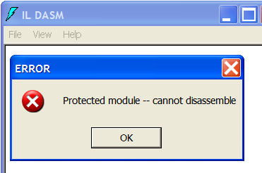 التشفير Obfuscator 2010 ildasm_protection.pn