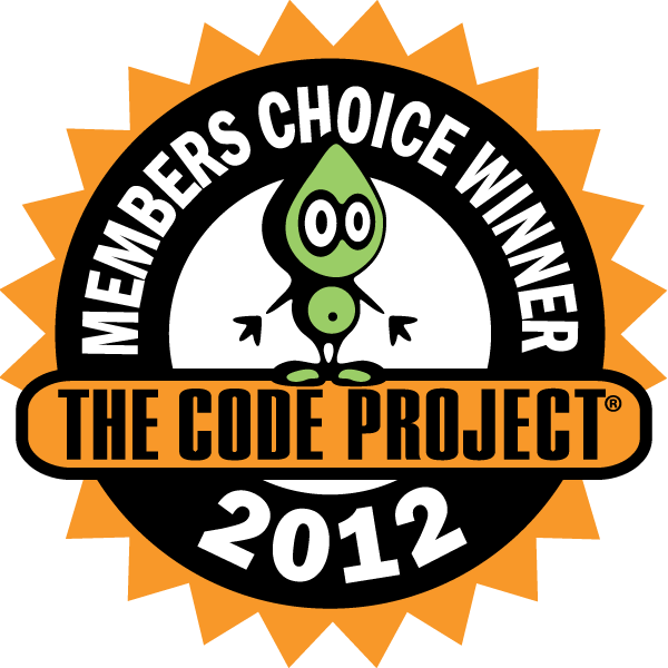 CodeProject 2012 Member's Choice Winner.