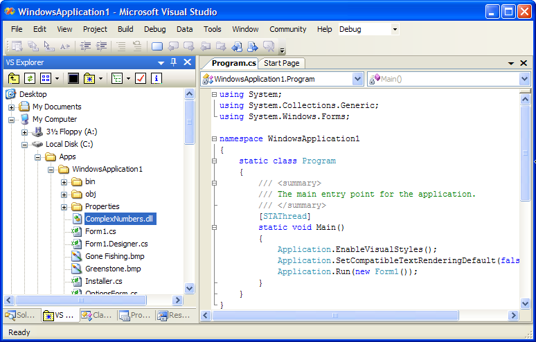 how to add path to visual studio service