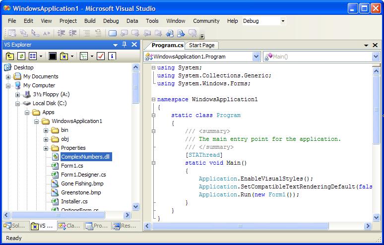 VS Explorer for Visual Studio : File And Folder Browser